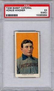 original PSA graded T206 Honus Wagner card
