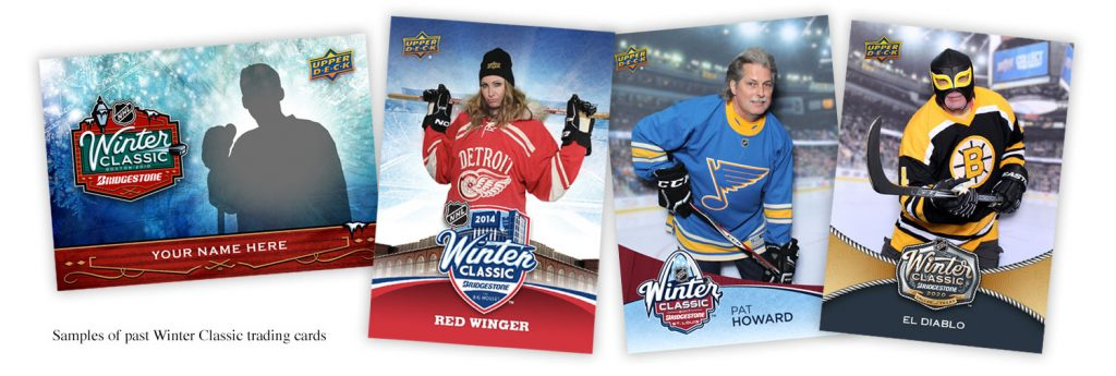 Samples from past Winter Classic trading cards